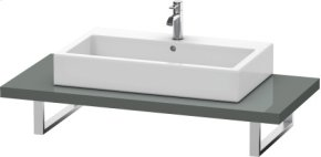 Console For Above-counter Basin And Vanity Basin, Dolomiti Grey High Gloss Lacquer