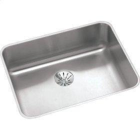 "Elkay Lustertone Classic Stainless Steel, 23-1/2"" x 18-1/4"" x 5-3/8"", Single Bowl Undermount ADA Sink w/Perfect Drain"
