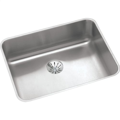 "Elkay Lustertone Classic Stainless Steel, 23-1/2"" x 18-1/4"" x 5-3/8"", Single Bowl Undermount ADA Sink w/Perfect Drain"