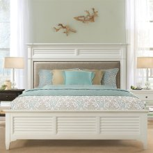 Myra - Full/queen Upholstered Headboard - Paperwhite Finish