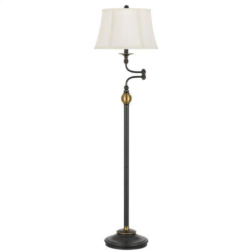 100W Ellenton Two Tone Swing Arm Floor Lamp