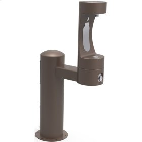 Elkay Outdoor EZH2O Bottle Filling Station Pedestal, Non-Filtered Non-Refrigerated Brown