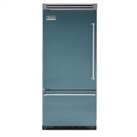 "Iridescent Blue 36"" Quiet Cool™ Bottom-Mount Refrigerator/Freezer - VIBB Tru-Flush™ (Left Hinge Door)"