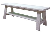Weathered White Wedge Bench