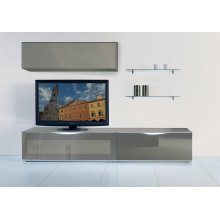 MO-USA2 Modena Grey TV Entertainment System Made In Italy