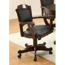 Casual Black and Tobacco Upholstered Game Chair