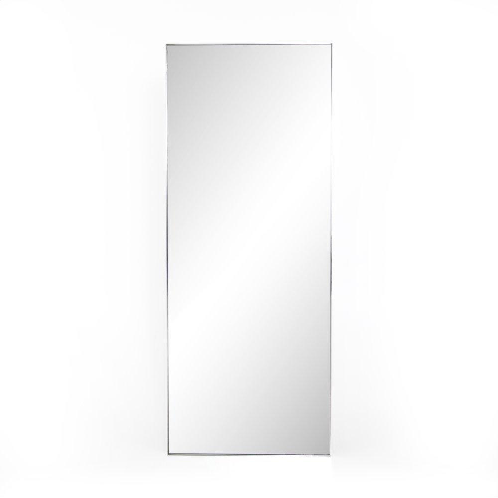 Shiny Steel Finish Bellvue Floor Mirror
