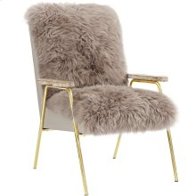 Sprint Sheepskin Armchair in Brown Brown