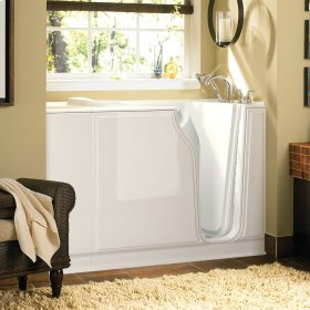 Value Series 30x52-inch Walk-in Tub with Combo Air Spa and Whirlpool System  American Standard - Linen