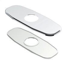 """Chrome 4"""" Centerset Cover Plate Assembly"""