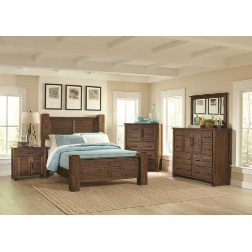 Sutter Creek Rustic Vintage Bourbon California King Bed