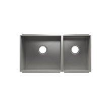 """UrbanEdge® 003677 - undermount stainless steel Kitchen sink , 18"""" × 16"""" × 8""""  12"""" × 16"""" × 8"""""""