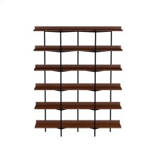 Shelving System 5306 in Toasted Walnut Black