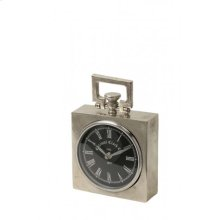 Clock 15x5,5x19 cm BRADFORD raw nickel