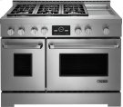 """Jenn-Air® 48"""" Pro-Style® LP Range with Griddle and MultiMode® Convection System, Pro-Style® Stainless Product Image"""