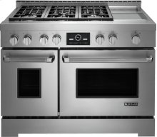 """Jenn-Air® 48"""" Pro-Style® LP Range with Griddle and MultiMode® Convection System, Pro-Style® Stainless Handle"""