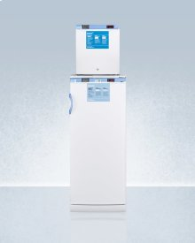Stacked Combination of Ffar10med2 Auto Defrost All-refrigerator and Fs24lmed2 Compact Manual Defrost All-freezer, Both With Locks, Digital Controls, and Nist Calibrated Alarm/thermometers