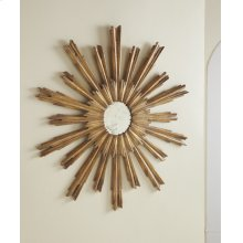Portuguese Starburst Mirror, Gold Leaf Finish On Carved Wood.