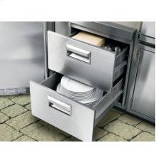 GE Monogram® Stainless Steel Double Drawers