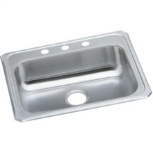 "Elkay Celebrity Stainless Steel 25"" x 21-1/4"" x 5-3/8"", Single Bowl Drop-in Sink"