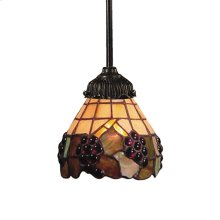 Mix-N-Match 1-Light Mini Pendant in Tiffany Bronze with Tiffany Style Glass