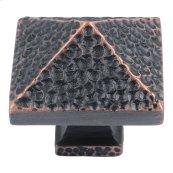 Craftsman Square Knob 1 1/4 Inch - Venetian Bronze