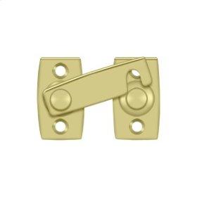"""Shutter Bar/Door Latch 1 3/8"""" - Polished Brass"""