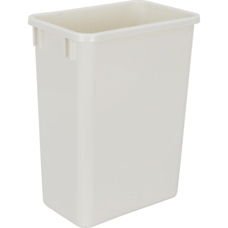 35 Quart Plastic Waste Container White Fits Double Single Qt Trash Can