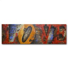 Love Long 70x22 Metal Art