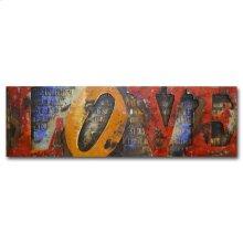 Love Long 70x22 Metal Art