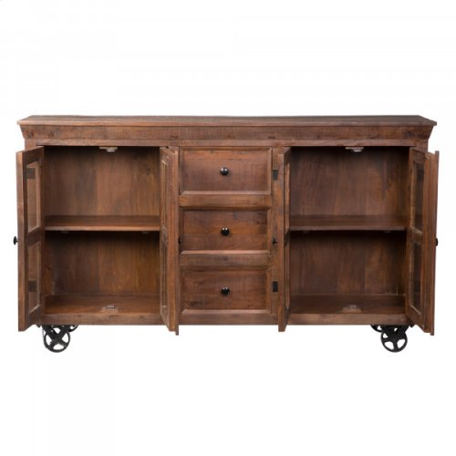 Mango Wood Mobile Sideboard