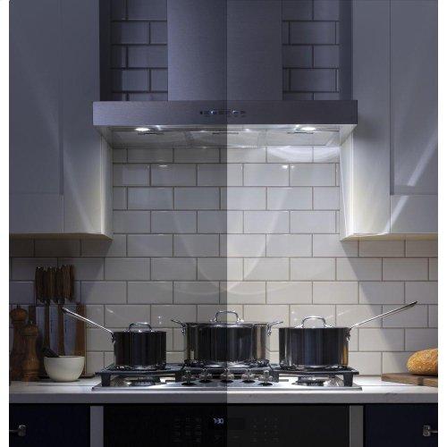 "30"" Designer Wall Mount Hood w/ Dimmable LED Lighting"