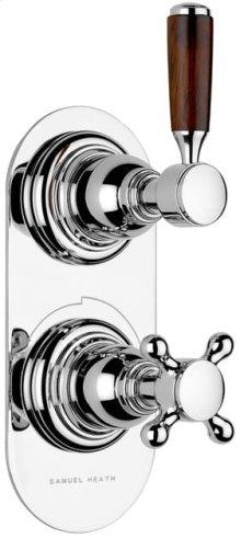 Non Lacquered Brass Trim set for V134-AIS thermostatic valve