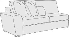 Lockett Left Arm Loveseat in Mocha (751)