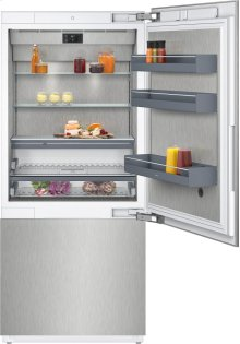 """400 Series Two-door Bottom Freezer With Fresh Cooling Close To 32 °f Fully Integrated Niche Width 36"""" (91.4 Cm)"""