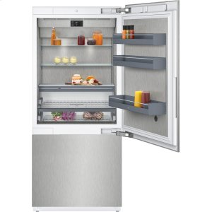 "Gaggenau400 series 400 series two-door bottom freezer With fresh cooling close to 32 (degree)F Fully integrated Niche width 36"" (91.4 cm)"