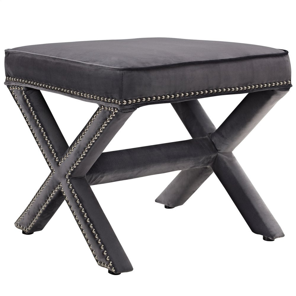Rivet Bench in Gray
