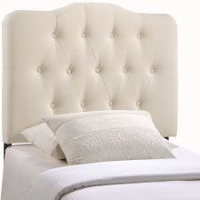 Annabel Twin Upholstered Fabric Headboard in Ivory