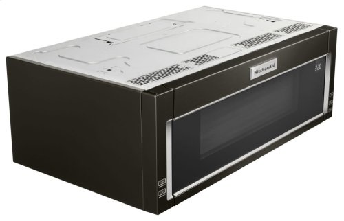 1000-Watt Low Profile Microwave Hood Combination - Black Stainless