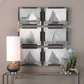 Sailboats Framed Prints, S/6