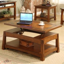 Craftsman Home - Lift-top Coffee Table - Americana Oak Finish
