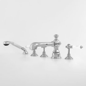 1800 Series Roman Tub Set with Diverter Handshower and Waldorf Handle (available as trim only P/N: 1.187693T)
