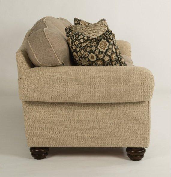 Bexley Two-Tone Fabric Sofa without Nailhead Trim