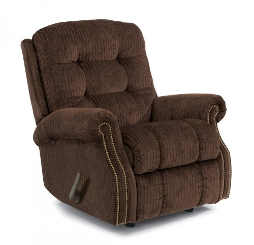 Mackenzi Fabric Rocking Recliner with Nailhead Trim