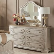 Elizabeth - Mirror - Smokey White Finish Product Image