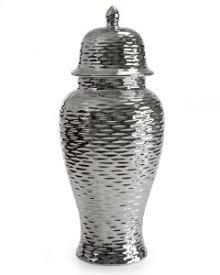 Eden Silver Ceramic Vase 24H 2-pack