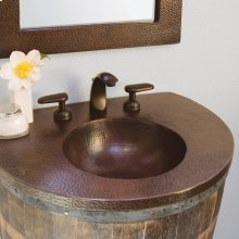 Antique Copper Bordeaux Copper Vanity Top