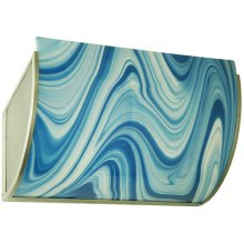 """20.25""""W Metro Fusion Ocean Waves Glass Wall Sconce"""
