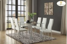Dining Table Glass Top & 4 Chairs