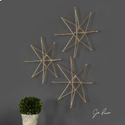 Gold Stars Metal Wall Decor, S/3 Product Image